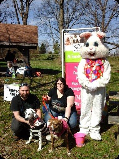 Muncie doggie Easter egg hunt