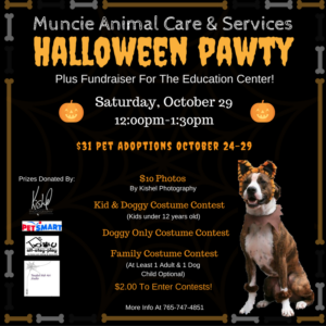 Muncie Animal Care and Services Halloween Pawty