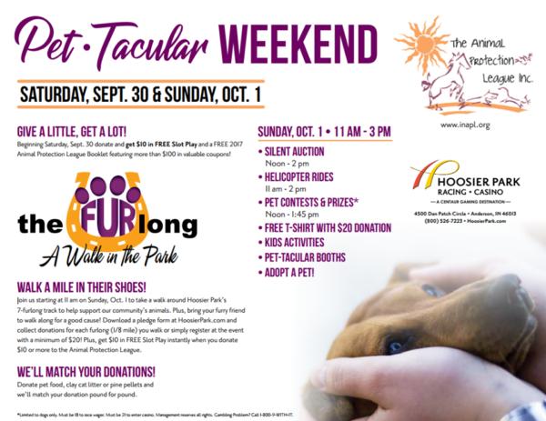 Animal Protection League Pet-Tacular Weekend