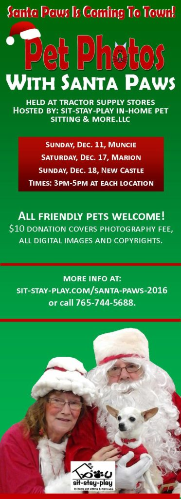 Santa Paws 2016, Muncie, Marion, New Castle, Indiana