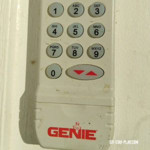 garage key pad