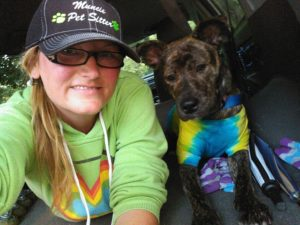 Kelley Stewart from sit stay play Muncie pet sitter
