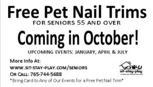 free pet nail trims for seniors